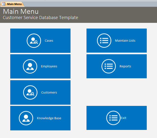 Microsoft Access Customer Database Template Lovely Microsoft Access Customer Service Database Template