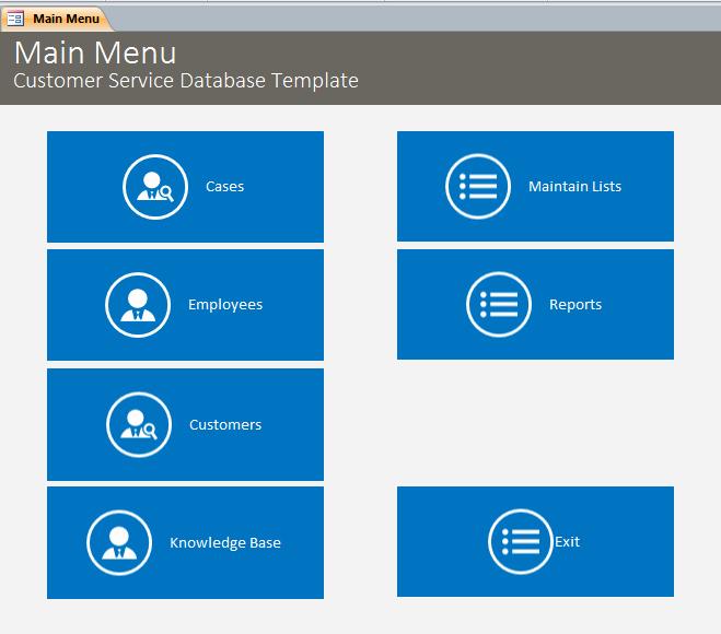 Microsoft Access Customer Database Template Lovely Microsoft Access Customer Service Database Template