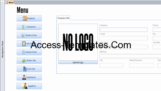 Microsoft Access Customer Database Template New Microsoft Access Customers Invoices Quotes and orders