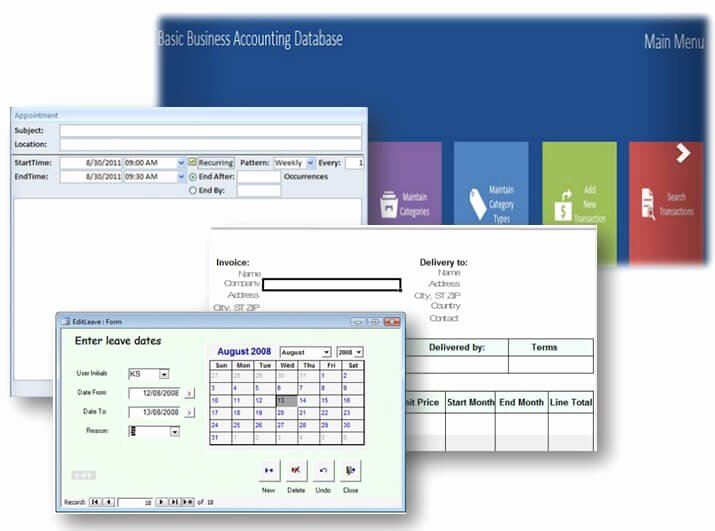 Microsoft Access Free Template Beautiful Ms Access Database Templates – some are even Free