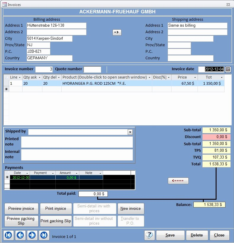 Microsoft Access Invoice Template Fresh Crm Basic Ms Access Templates