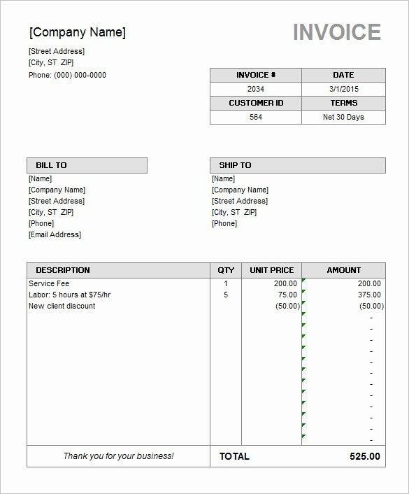 Microsoft Access Invoice Template Inspirational 60 Microsoft Invoice Templates Pdf Doc Excel