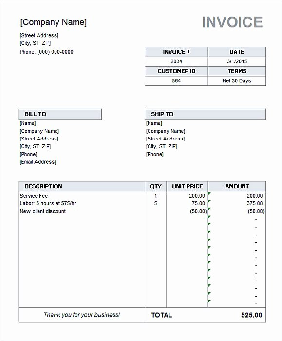 Microsoft Access Invoice Template Inspirational Simple Invoice Template Word