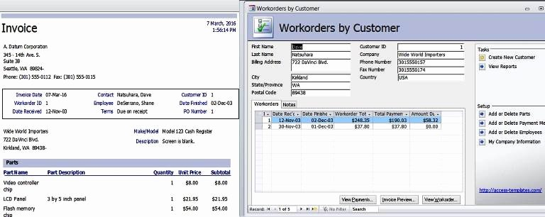 Microsoft Access Invoice Template Lovely Microsoft Access 2013 Templates In Access Database