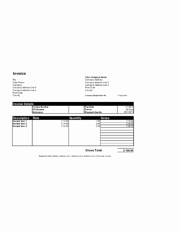 Microsoft Access Invoice Template Luxury Free Invoice Templates for Word Excel Open Fice