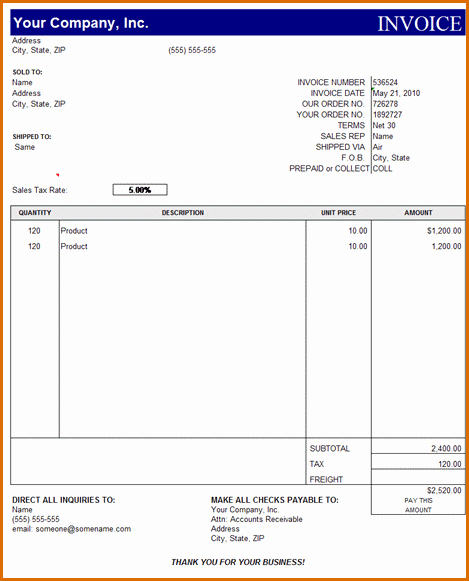 Microsoft Access Invoice Template New 10 Microsoft Excel Invoice Template