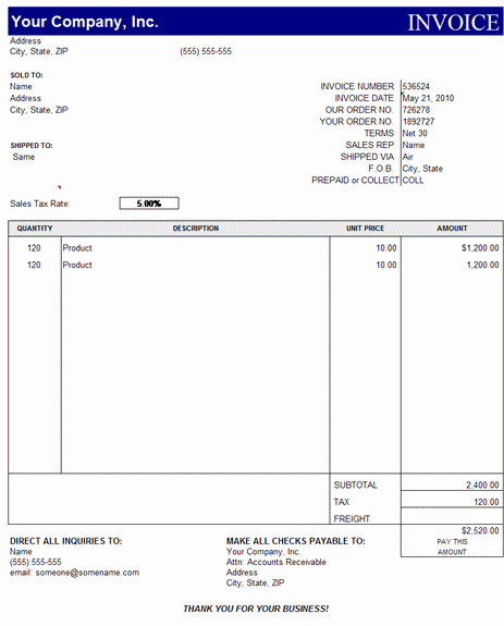 Microsoft Access Invoice Template Unique Sales Invoice Template Excel Free Download