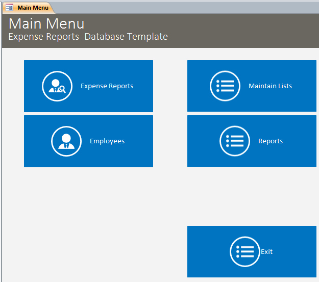 Microsoft Access Report Template Awesome Microsoft Access Expense Reports Database Template