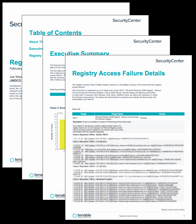 Microsoft Access Report Template Beautiful Registry Access Failures Report Sc Report Template