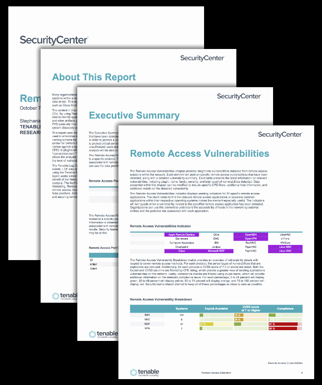 Microsoft Access Report Template Best Of Remote Access Detection Report Sc Report Template