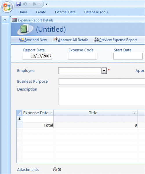 Microsoft Access Report Template Fresh Expense Reports for Access 2007 Newer Business Access