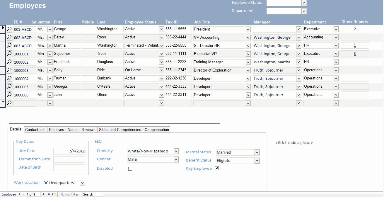 Microsoft Access Report Template Inspirational Microsoft Access Employee Recruiting Template