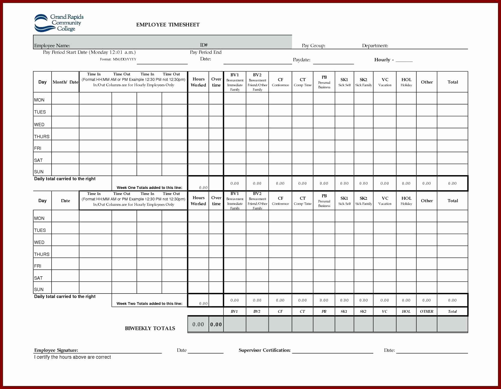 excel flexi timesheet template