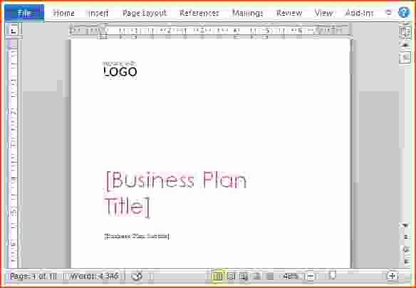 Microsoft Business Plan Template New 7 Microsoft Word Business Plan Template Bookletemplate
