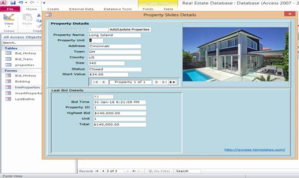 Microsoft Office Access Template Lovely Microsoft Access 2013 Real Estate Database Templates for