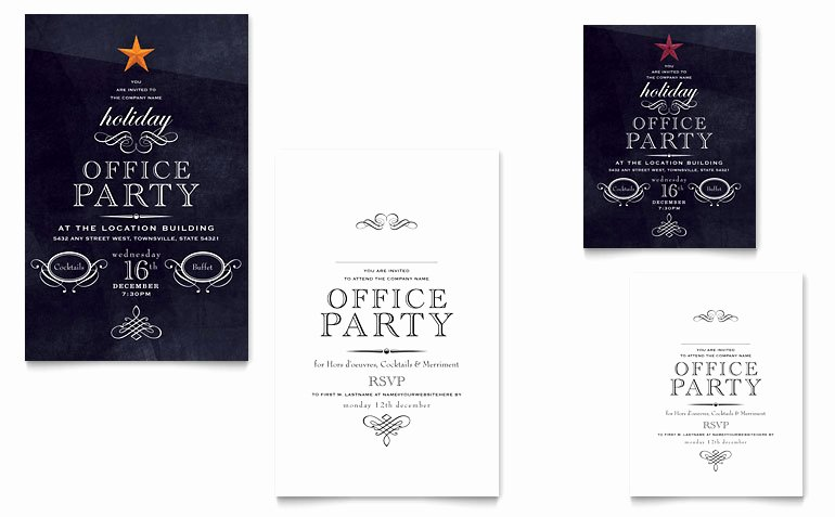 Microsoft Office Postcard Template Awesome Fice Holiday Party Note Card Template Word & Publisher