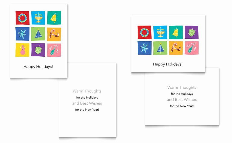 Microsoft Office Postcard Template Beautiful Holiday Icons Greeting Card Template Word & Publisher