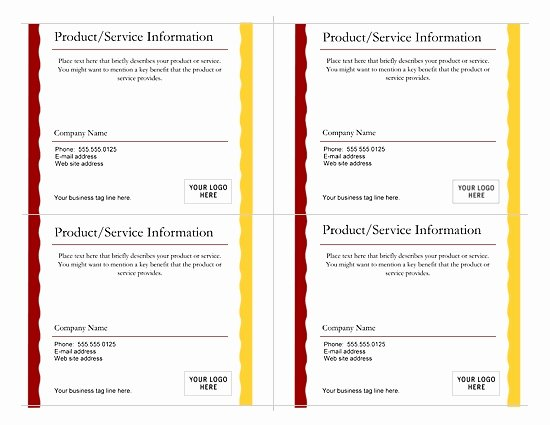 Microsoft Office Postcard Template Elegant Postcard Template 4 Per Page Invitation Template