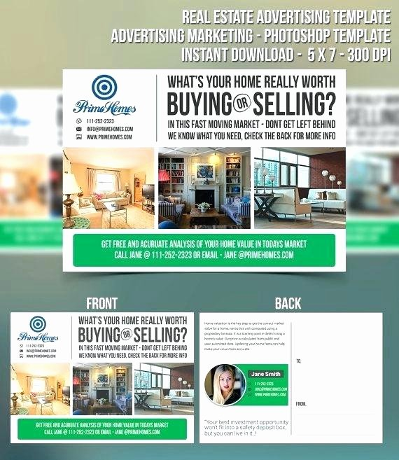 Microsoft Office Postcard Template Lovely Real Estate Postcard Template Postcards Agent Fice