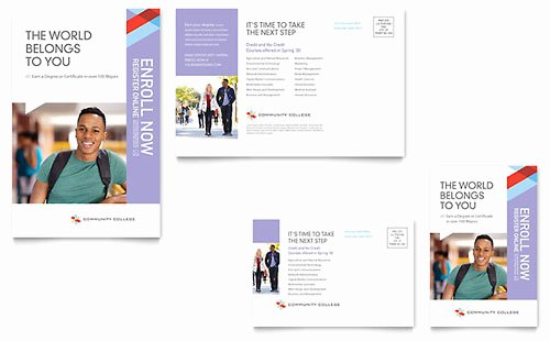 Microsoft Office Postcard Template Unique High School Postcard Templates Word & Publisher