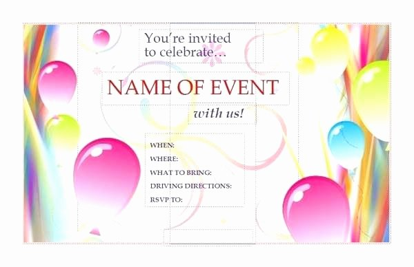 Microsoft Office Wedding Invitation Template Elegant Microsoft Birthday Invitation Templates Baby Shower