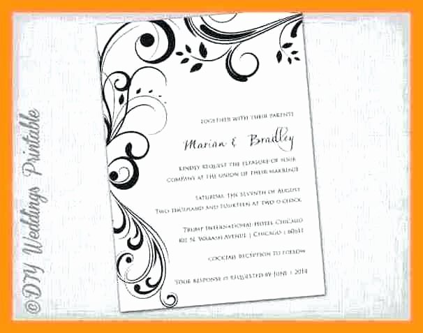 Microsoft Office Wedding Invitation Template Elegant Word Birthday Card Template Invitation Fice Templates