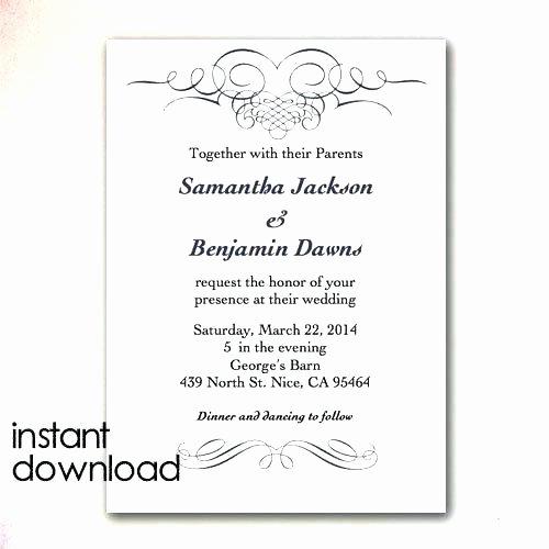 Microsoft Office Wedding Invitation Template Fresh Word Birthday Card Template Invitation Fice Templates