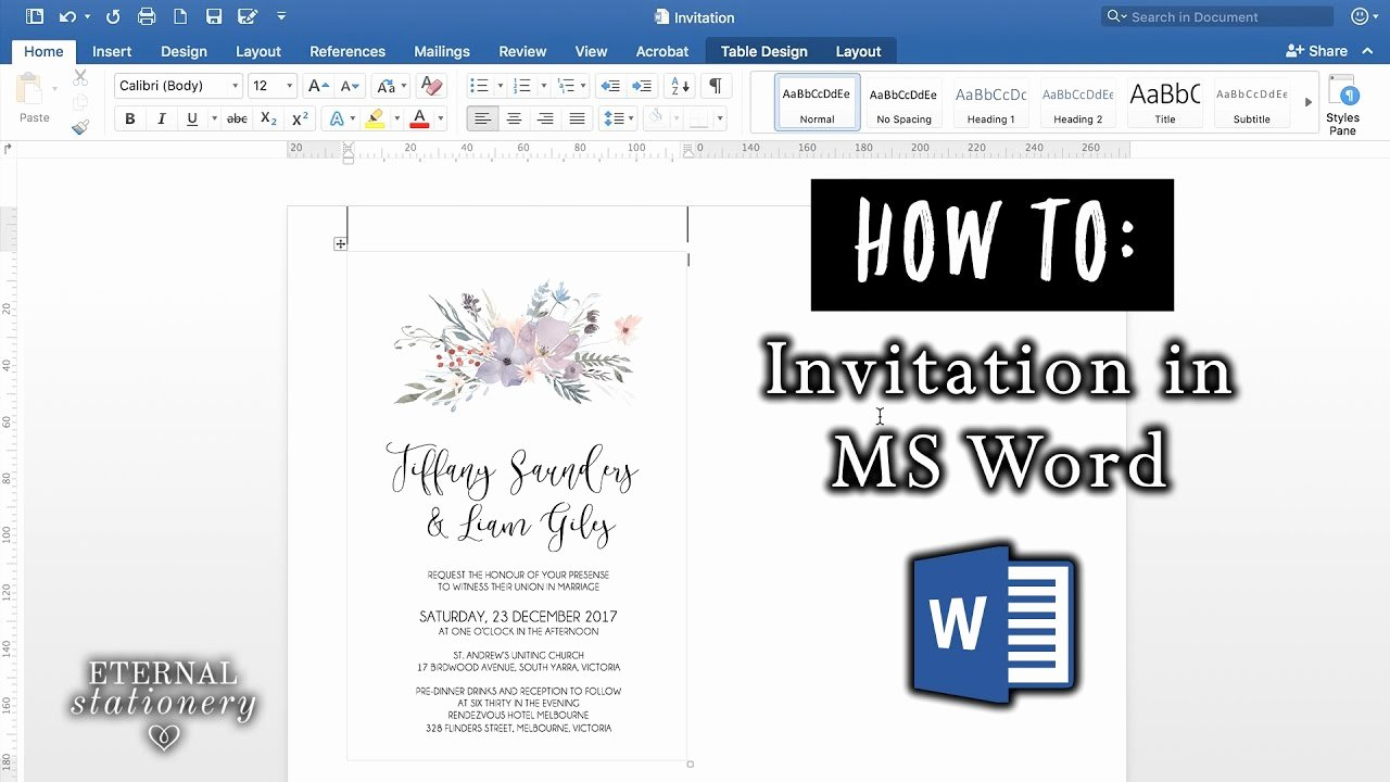 Microsoft Office Wedding Invitation Template New How to Make An Invitation In Microsoft Word