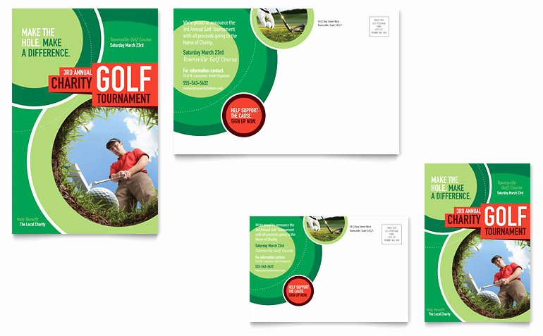 Microsoft Publisher Postcard Template Beautiful Golf tournament Postcard Template Word & Publisher