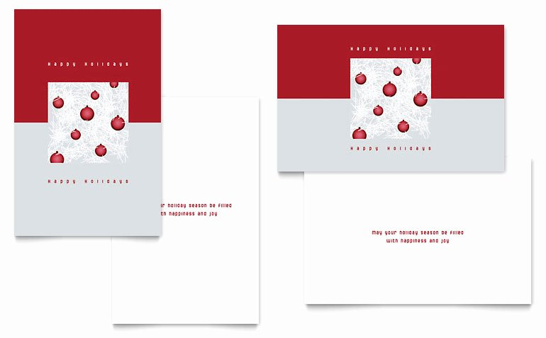 Microsoft Publisher Postcard Template Best Of Red ornaments Greeting Card Template Word & Publisher