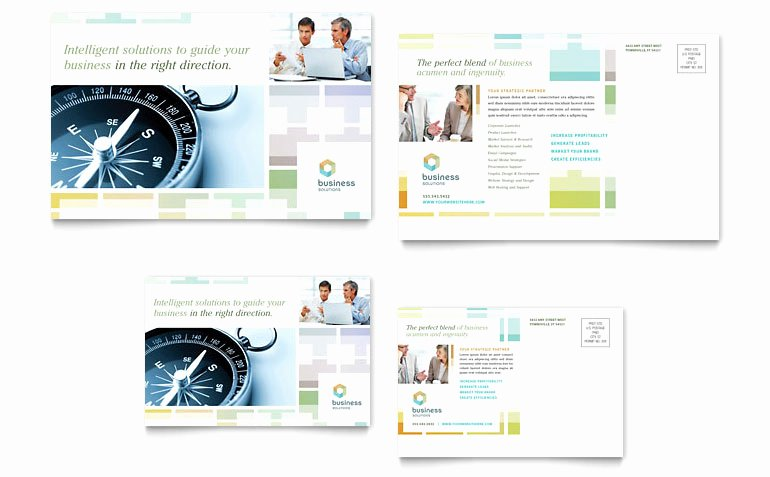 Microsoft Publisher Postcard Template Fresh Business solutions Consultant Postcard Template Word