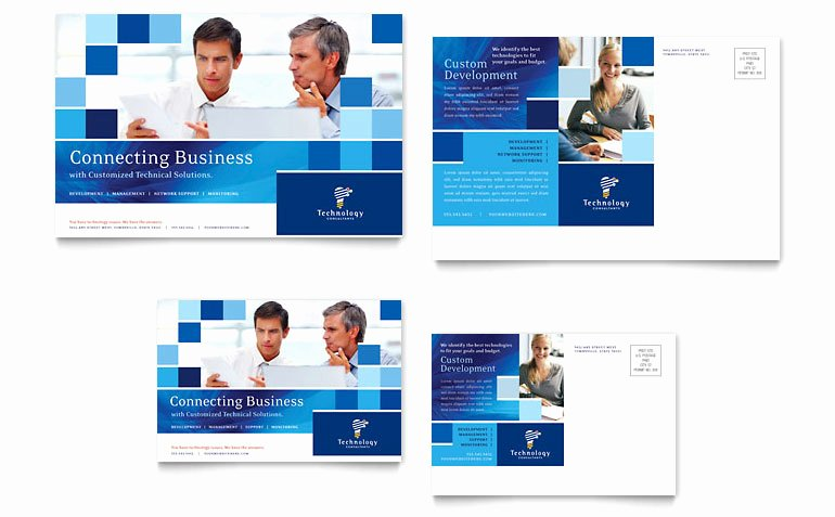 Microsoft Publisher Postcard Template Inspirational Technology Consulting & It Postcard Template Word