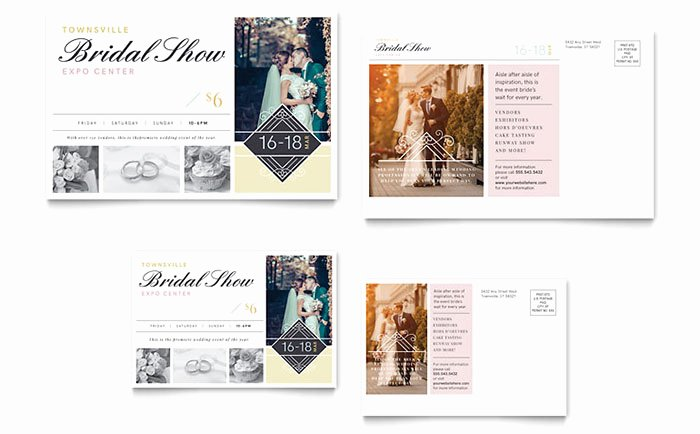 Microsoft Publisher Postcard Template Lovely Bridal Show Postcard Template Word & Publisher