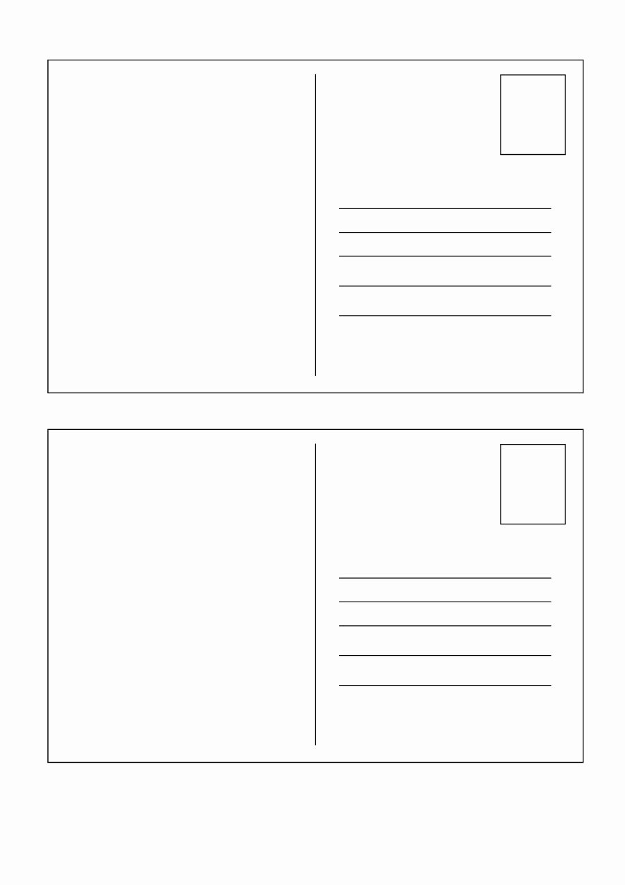 Microsoft Publisher Postcard Template New 40 Great Postcard Templates & Designs [word Pdf]