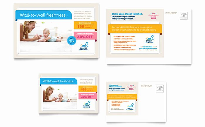 Microsoft Publisher Postcard Template New Carpet Cleaning Postcard Template Word & Publisher