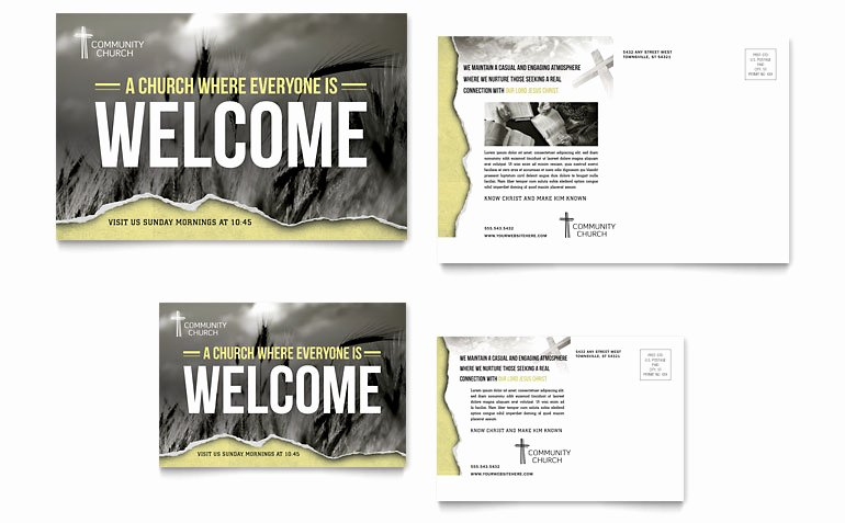 Microsoft Publisher Postcard Template Unique Bible Church Postcard Template Word & Publisher