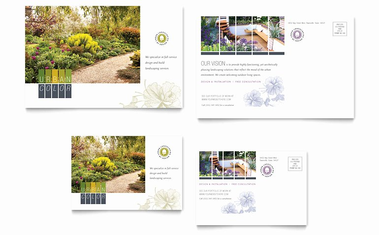 Microsoft Publisher Postcard Template Unique Urban Landscaping Postcard Template Word & Publisher