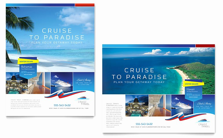 Microsoft Word Banner Template Best Of Cruise Travel Poster Template Word & Publisher