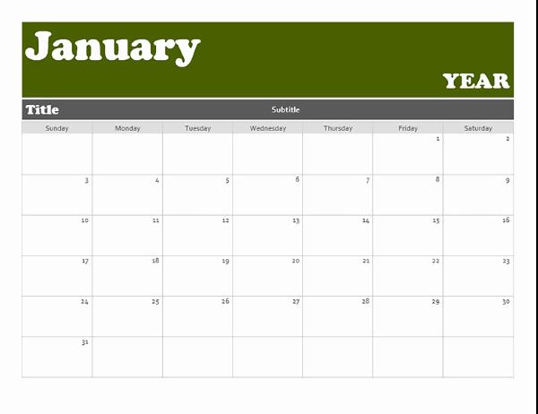Microsoft Word Banner Template Inspirational Banner Calendar