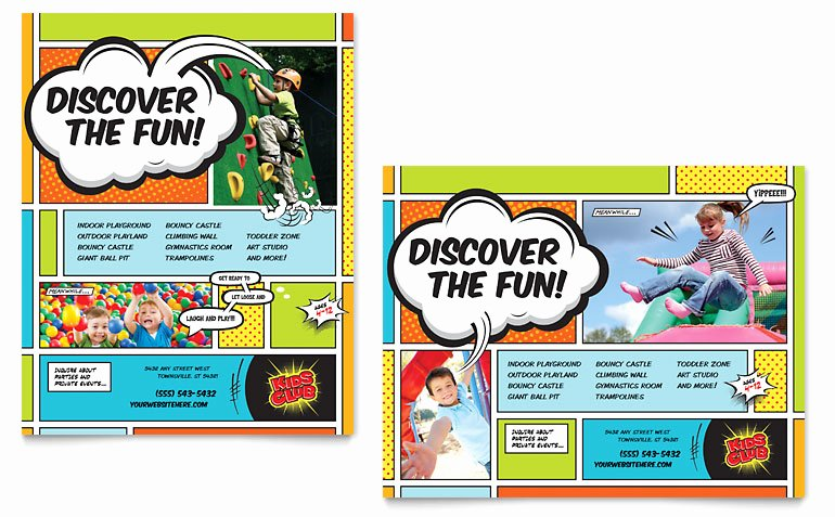 Microsoft Word Banner Template Inspirational Kids Club Poster Template Word & Publisher