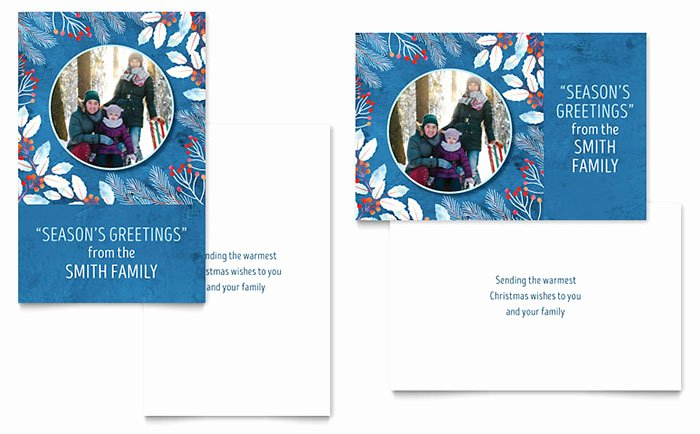 Microsoft Word Birthday Card Template Beautiful Family Portrait Greeting Card Template Word & Publisher