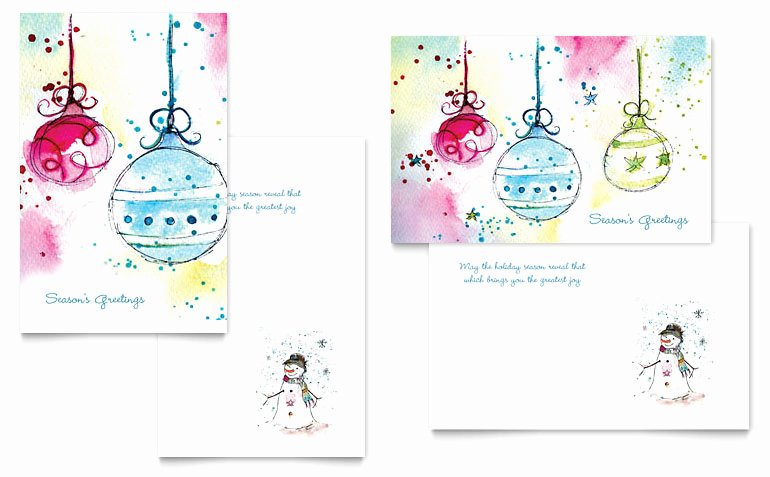Microsoft Word Birthday Card Template Beautiful Whimsical ornaments Greeting Card Template Word & Publisher