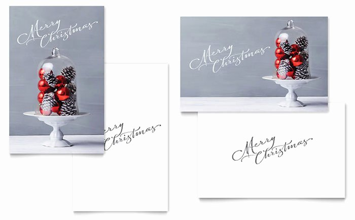 Microsoft Word Birthday Card Template Inspirational Christmas Display Greeting Card Template Word & Publisher