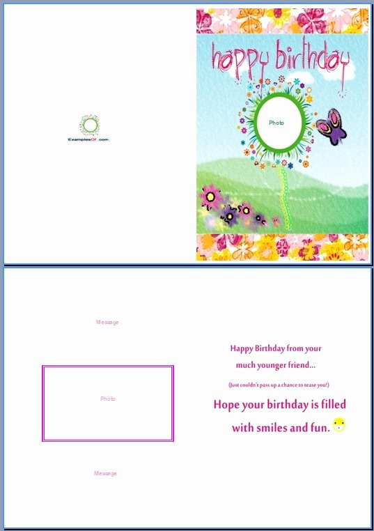 Microsoft Word Birthday Card Template Lovely Birthday Card Template Word