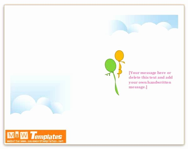 Microsoft Word Birthday Card Template New Ms Word Templates Birthday Invitations