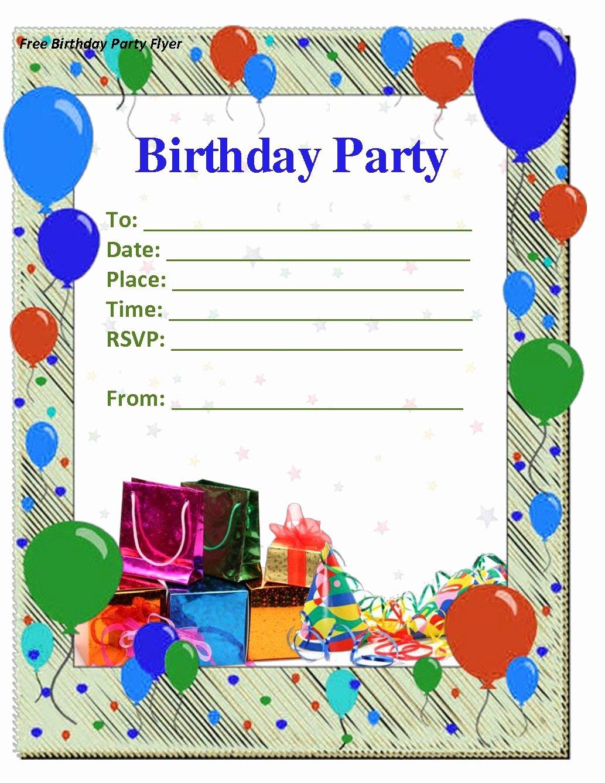 Microsoft Word Birthday Invitation Template Beautiful Birthday Invitations Templates Word