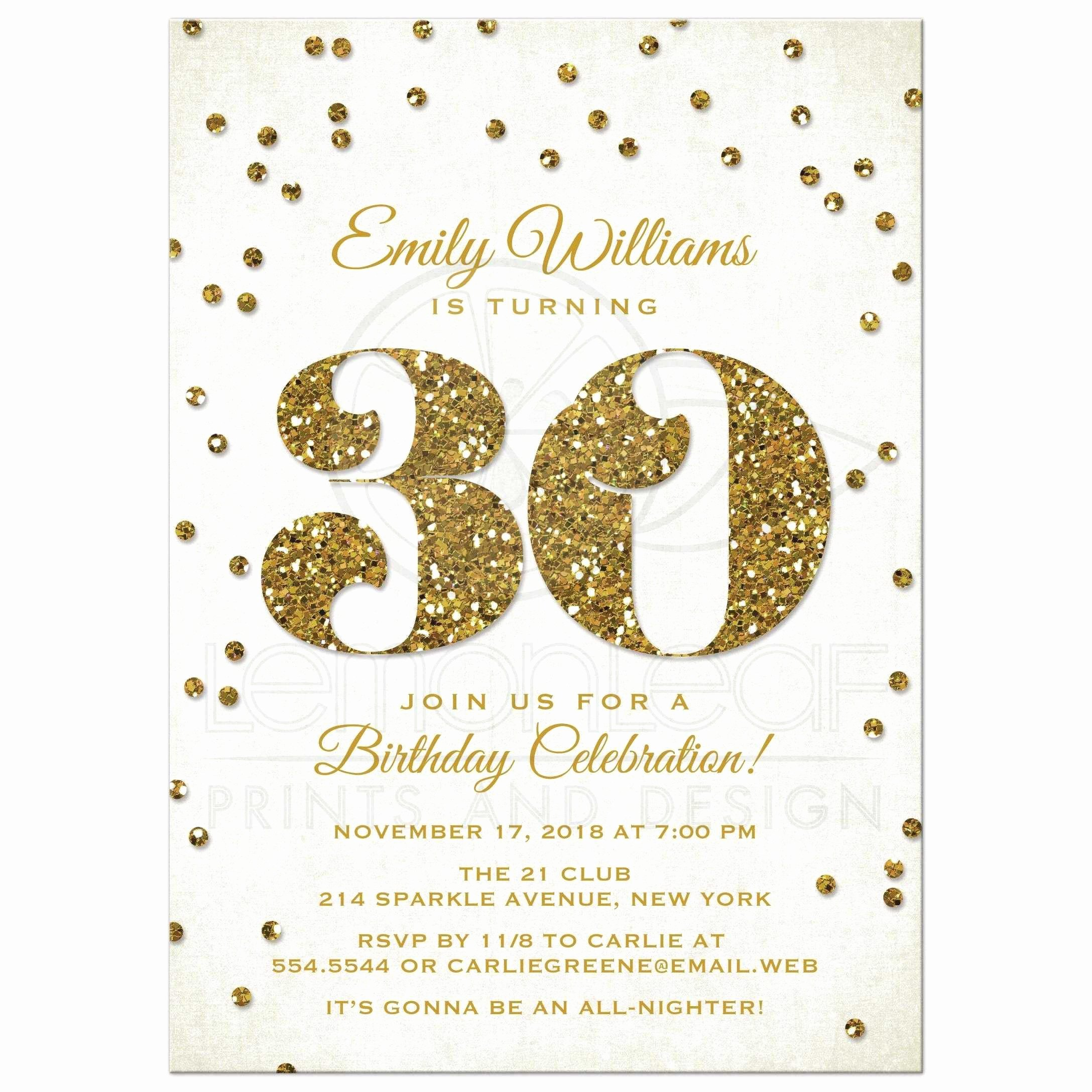 Microsoft Word Birthday Invitation Template Best Of 30th Birthday Invitation Templates Word Templates