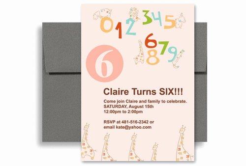 Microsoft Word Birthday Invitation Template Elegant Cute Pink Girl Microsoft Word Birthday Invitation 5x7 In