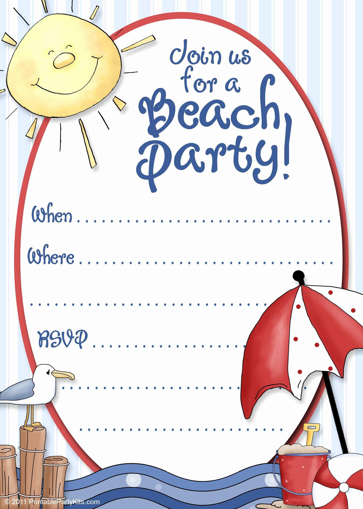 Microsoft Word Birthday Invitation Template Elegant Free Party Invitation Template Party Invitation