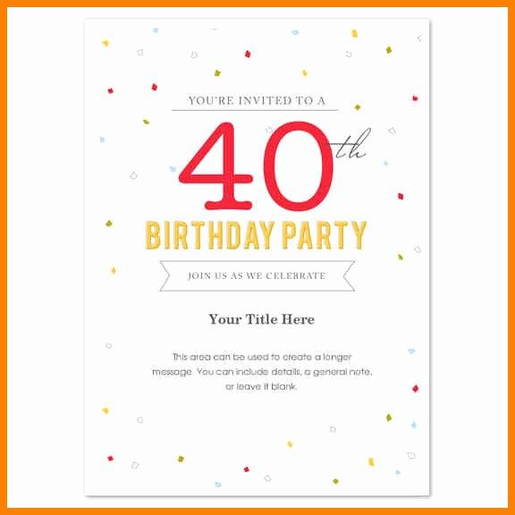 Microsoft Word Birthday Invitation Template Inspirational Microsoft Word Birthday Invitation Templates Free – Best